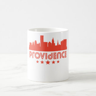 Retro Providence Skyline Coffee Mug