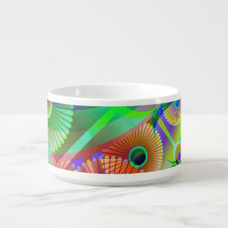 Retro Psychedelic Abstract Chili Bowl