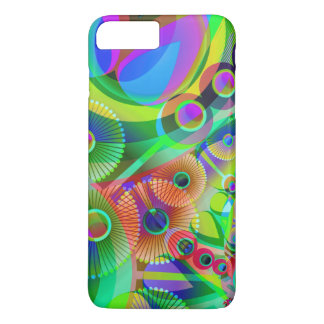 Retro Psychedelic Abstract iPhone 7 Plus Case