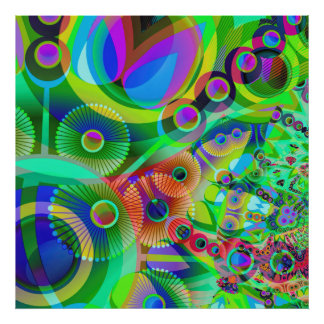 Retro Psychedelic Abstract Poster