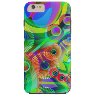 Retro Psychedelic Abstract Tough iPhone 6 Plus Case