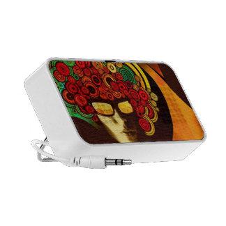 retro psychedelic doodle mini speakers