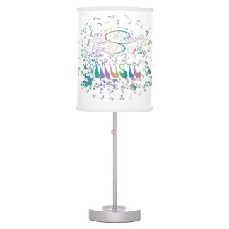 Retro Psychedelic Music Notes Table Lamp