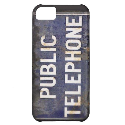 Retro Public Telephone Sign for your iPhone iPhone 5C Cases