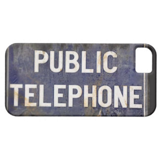 Retro Public Telephone Sign for your iPhone Case For The iPhone 5