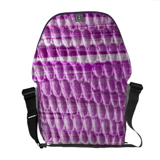 Retro purple art graphic design commuter bags