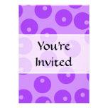 Retro Purple Circles Pattern. Custom Invite