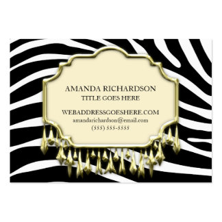 Retro Purple Crocodile Skin With Bling Business Cards
