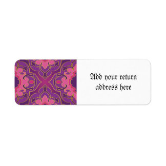 Retro,purple,hot pink, gold,floral,vintage,trendy,