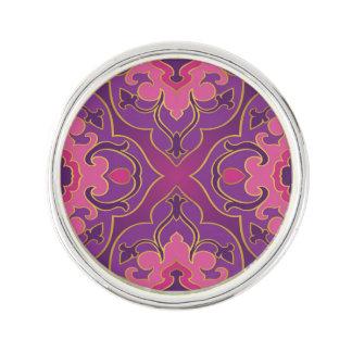 Retro,purple,hot pink, gold,floral,vintage,trendy, lapel pin