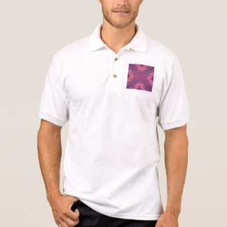 Retro,purple,hot pink, gold,floral,vintage,trendy, polo shirt