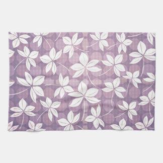 Retro Purple Paradise Kitchen Towel