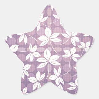 Retro Purple Paradise Star Sticker