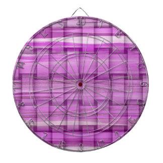 Retro purple stripes wicker graphic design 2 dartboards