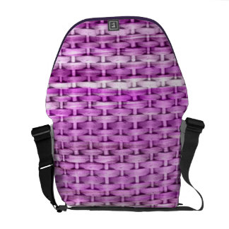 Retro purple wicker graphic design commuter bags