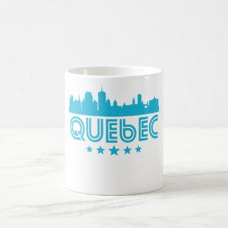 Retro Quebec Skyline Coffee Mug