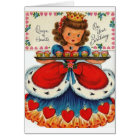 Retro Queen Of Hearts Birthday Greeting Card