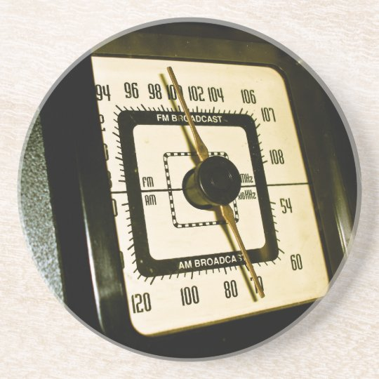 Retro Radio Dial 02 Coaster