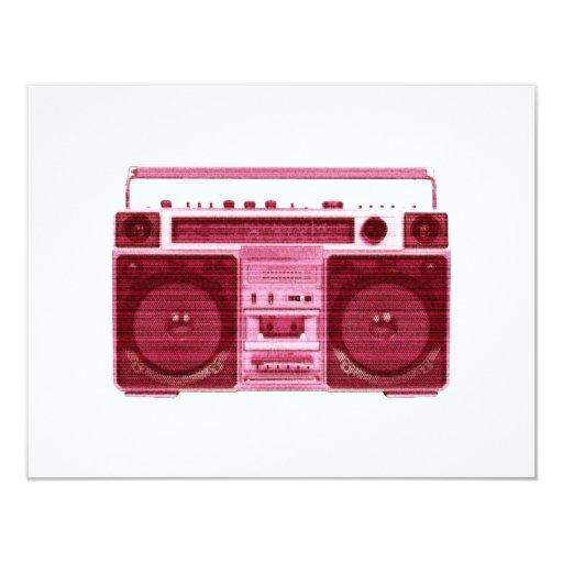 retro radio invitation