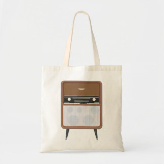 Retro Radio On Legs Tote Bag