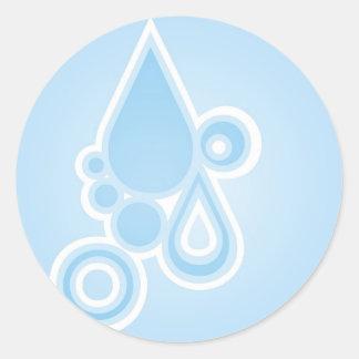 Retro Rain Drops Sticker