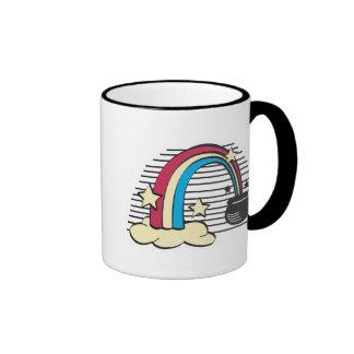 retro rainbow and pot o gold, retro rainbow and... mugs