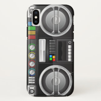 retro rainbow buttons boombox ghetto master Case-Mate iPhone case