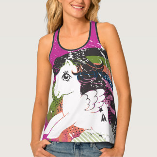 Retro Rainbow Design Tank Top