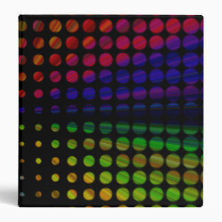 "Retro Rainbow  Dots 1.5"" Binder"