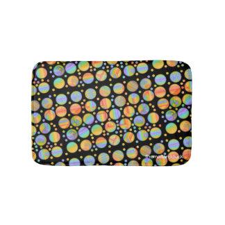 Retro Rainbow Dots Bath Mat