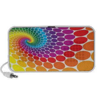 Retro Rainbow Dots Speaker