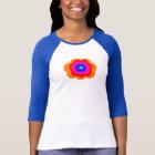 Retro Rainbow Flower Power 3/4 Sleeve T-Shirt Top