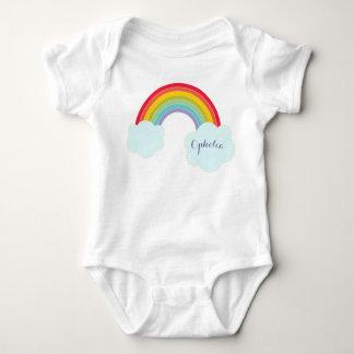 Retro Rainbow Infant Name Shirt
