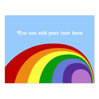 Retro Rainbow Postcard