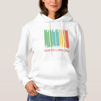 Retro Raleigh North Carolina Skyline Hoodie