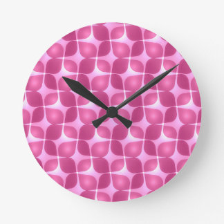 Retro Raspberry Round Clock