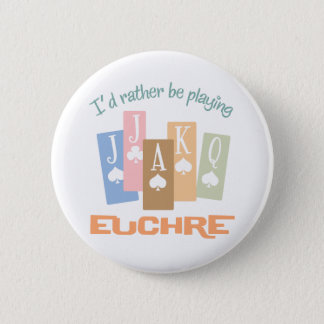 Retro Rather Play Euchre 2 Inch Round Button