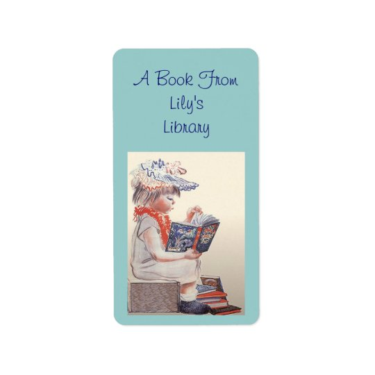 Retro Readers Bookplates Labels Bookplate Label