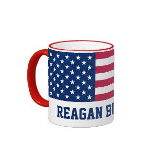 Retro Reagan Bush '84 American Flag Ringer Mug