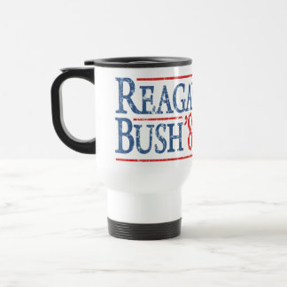 Retro Reagan Bush 84 Election 15 Oz Stainless Steel Travel Mug