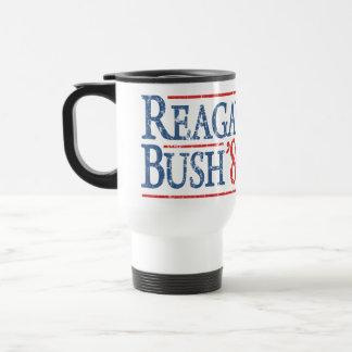Retro Reagan Bush 84 Election Stainless Steel Travel Mug