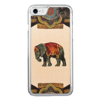 RETRO REBEL Circus Elephant Wood Carved iPhone 7 Case