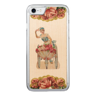 RETRO REBEL Rose Seller iPhone 5/5S Slim Wood Carved iPhone 8/7 Case