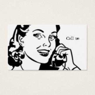 Retro Receptionist and Secretary Business Cards