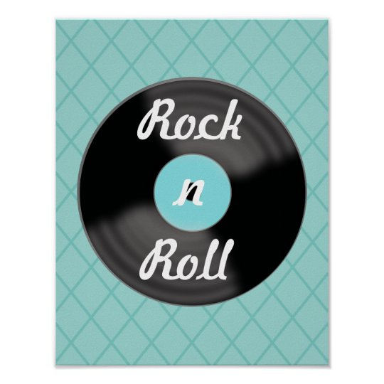 Retro Record Music Wall Art Poster Print Decor