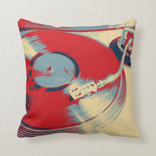 Retro Record Player Turntable Cushion Pillow