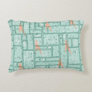 Retro Rectangles Decorative Pillow