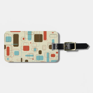 Retro Rectangles Luggage Tag