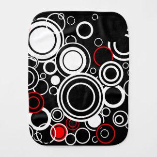 Retro Red And White Circles Burp Cloth