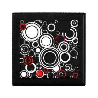 Retro Red And White Circles Gift Box